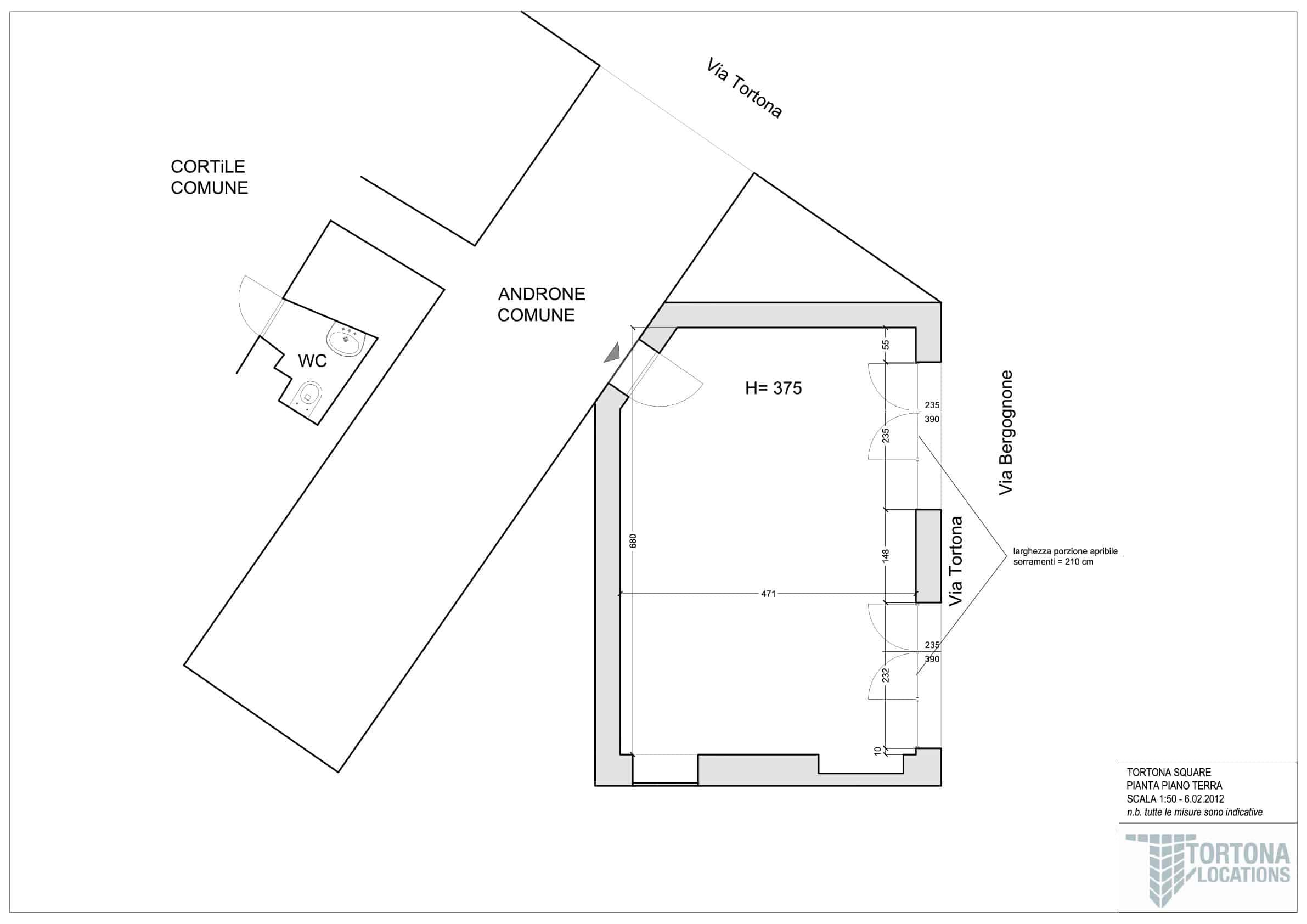 Planimetria Tortona Square
